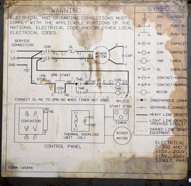 Hobart D300 Wiring Diagram